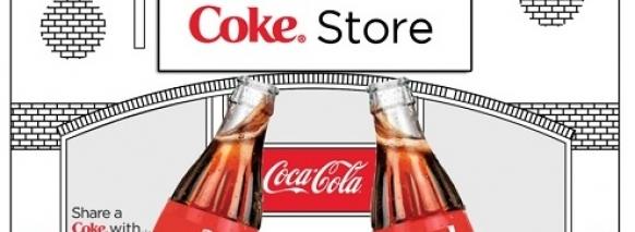 Coke popup store