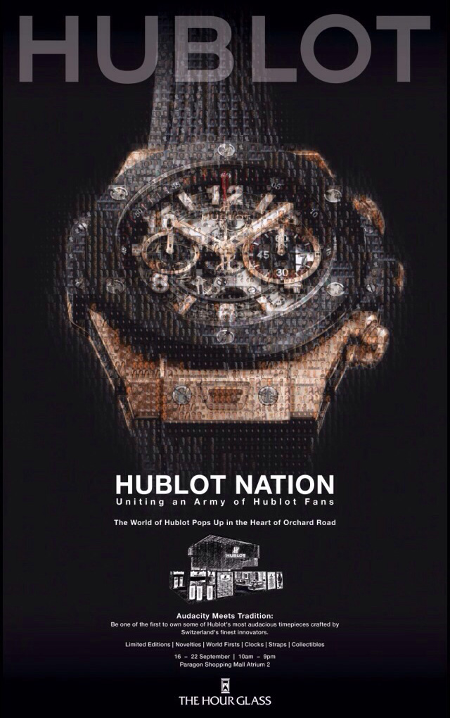 Hublot pop-up store Singapore F1