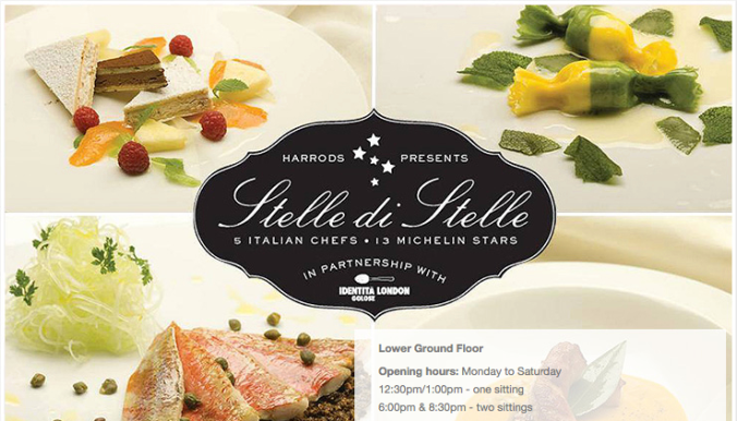 Harrods Stelle di stelle pop-up restaurant