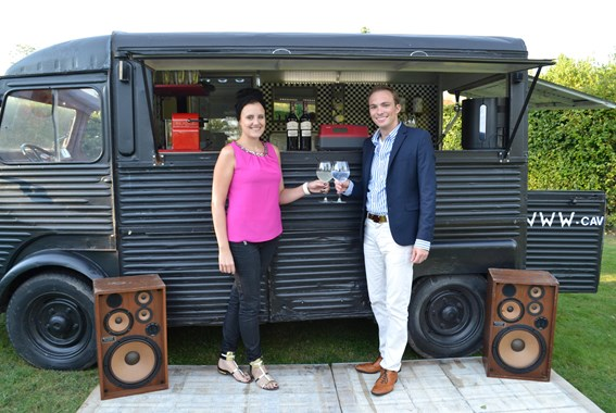 CaVino pop-up mobile winebar