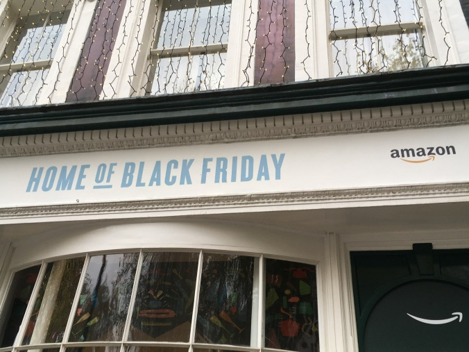 Amazon pop-up home of black friday London