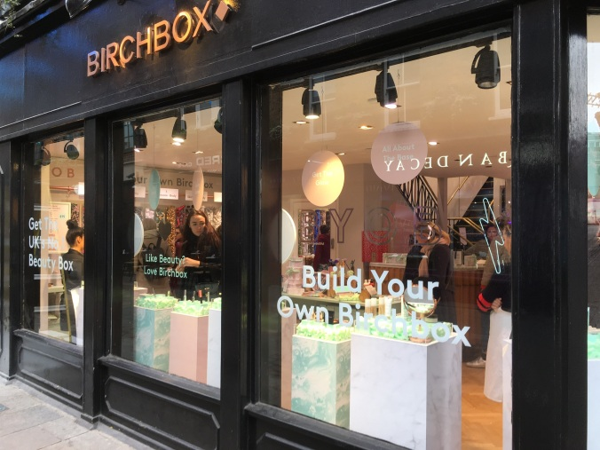 Birchbox pop-up carneby street London